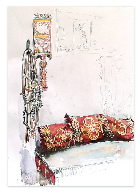 Zingaro, Intérieur marocain (42 x 30 cm)