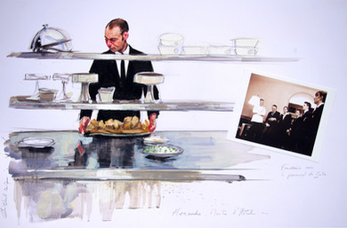 COMMANDE CHAMPAGNE COLLET, Série du chef cuisinier Doucet 2