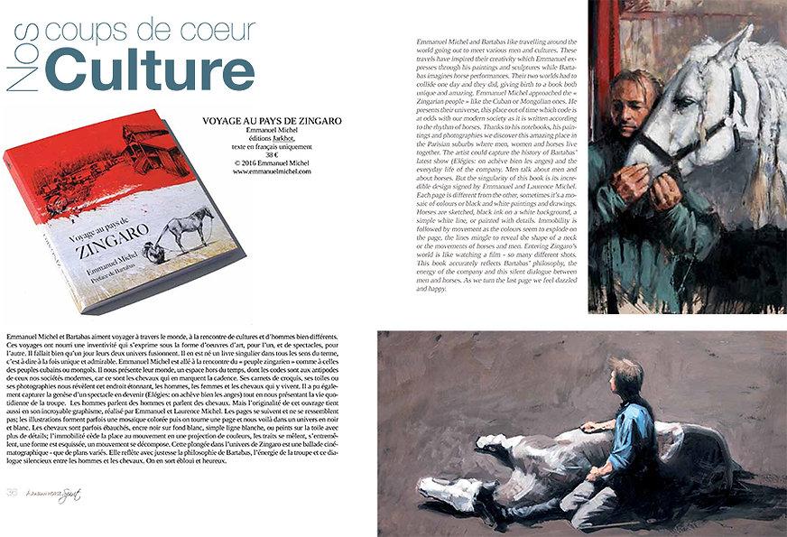 Arabian horse magazine n°4 Emmanuel Michel livre Voyage au Pays de Zingaro peintures dessins sculptures Bartabas