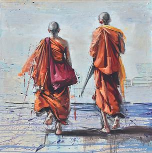 SRI LANKA, Retour au monastère