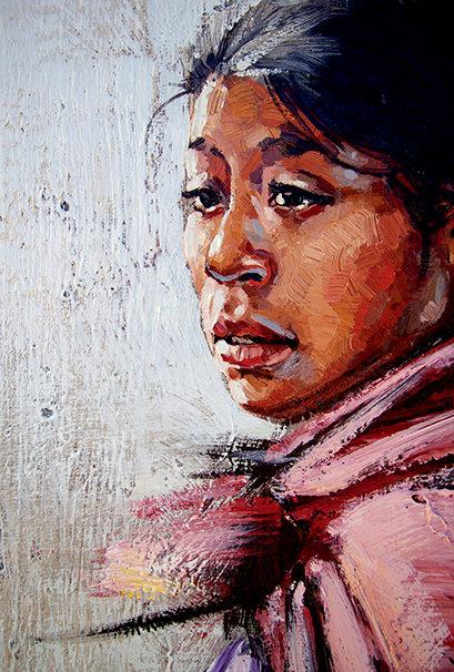 Pérou, Jeune fille inca 10x15 cm