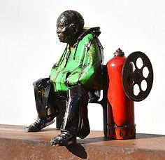 Emmanuel Michel sculpture Boby bronze métal galerie Van Campen Anvers