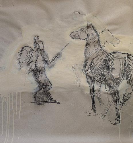 Zingaro, Ange et cheval (100 x 70 cm)