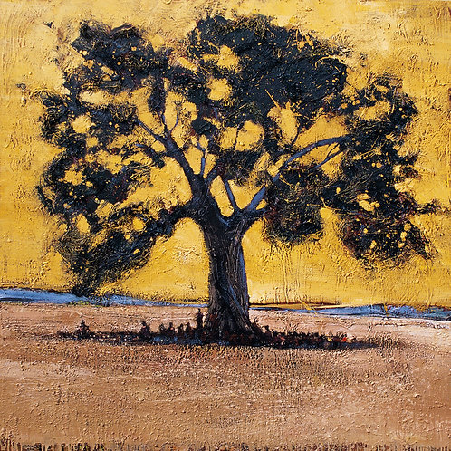 Tanzanie, L'arbre à palabres 15 x 15 cm