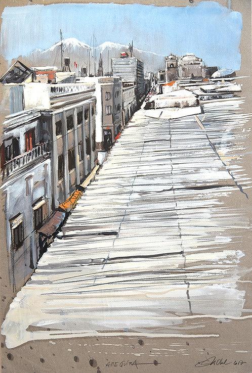 Pérou, Aréquipa vue des toits (60 x 40 cm)