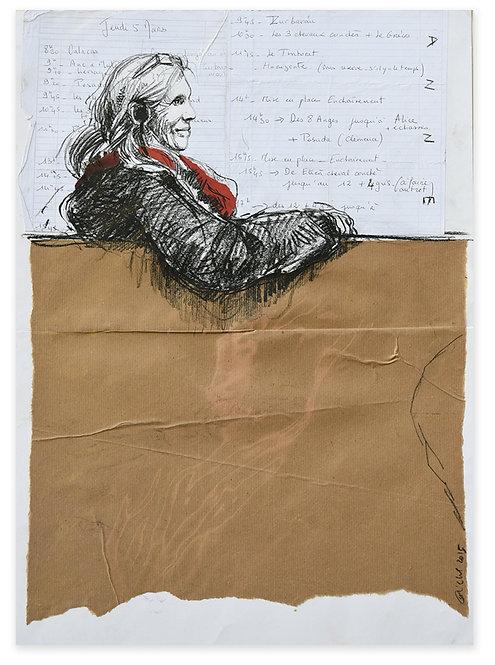 Zingaro, Anne assise (58 x 44 cm)