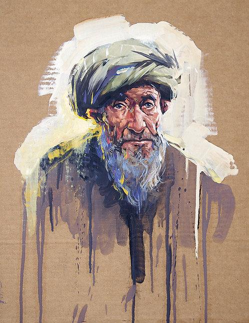 Afghanistan, Les Hirondelles de Kaboul, Portrait de Mirza (59 x 47 cm)
