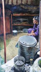 MONGOLIE, Seau de lait