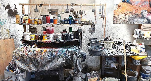 atelier peinture Emmanuel Michel