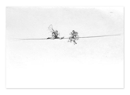 Zingaro, Sur le fil (28 x 42 cm)