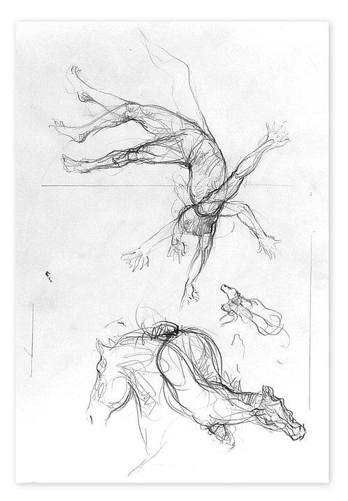 Zingaro, Acrobate et cheval (42 x 30 cm)