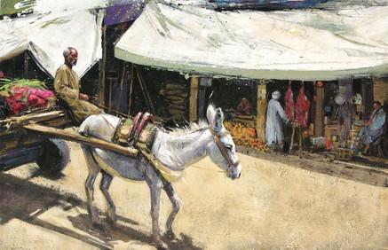 EGYPTE, La rue du boucher
