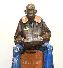Emmanuel Michel, sculpture bronze métal personnage