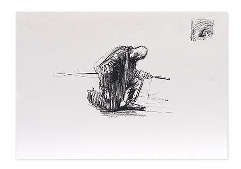 Zingaro, Bartabas salut 2 (30 x 42 cm)