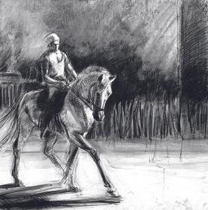 ZINGARO, Etienne à cheval