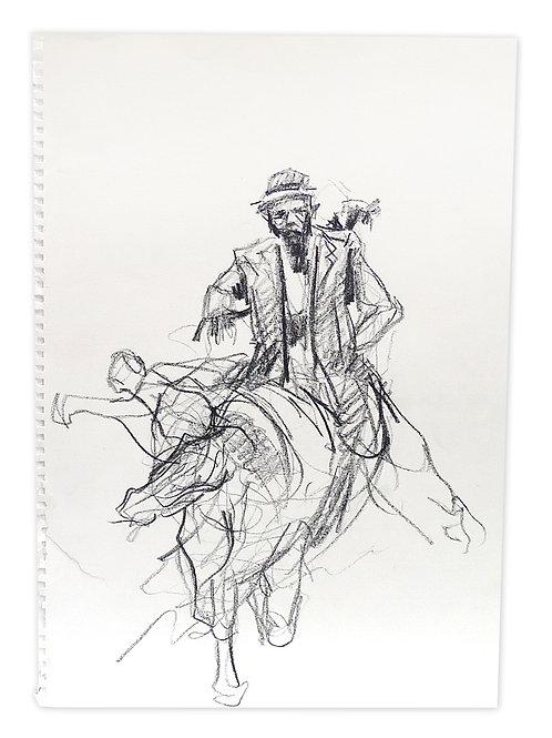 Zingaro, Cheval ivre (42 x 30 cm)