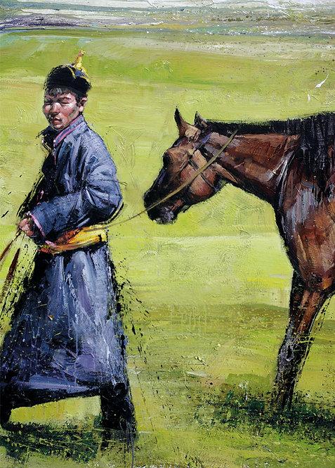 Mongolie, Après la course 10x15 cm