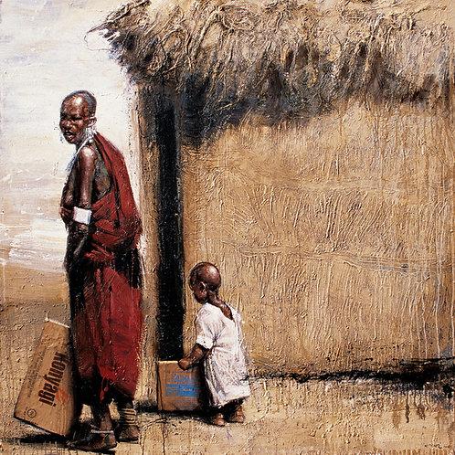 Tanzanie, Konyagi 15 x 15 cm