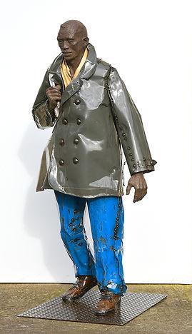 Emmanuel Michel sculpture du marin bronze métal galerie Van Campen Anvers