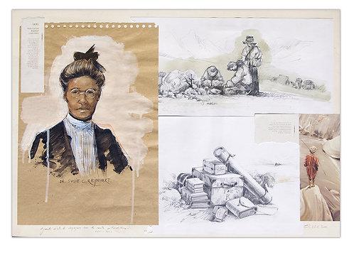 Tibet, Susie Rijnhart (50 x 70 cm)