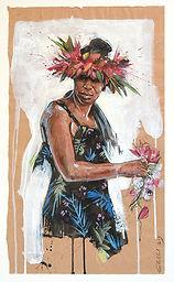 Polynésie Tahiti Vahinée peinture Emmanuel Michel