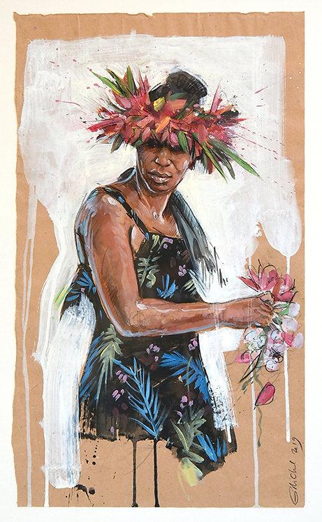 Polynésie, Vahinée (65 x 50 cm)
