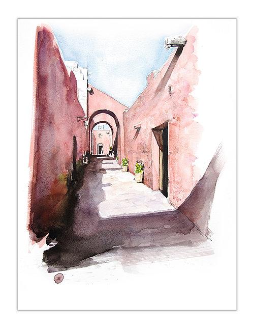 Pérou, Le couvent de Santa Catalina à Arequipa (47 x 35 cm)