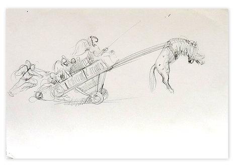 Zingaro, Envol du poney (21 x 30 cm)