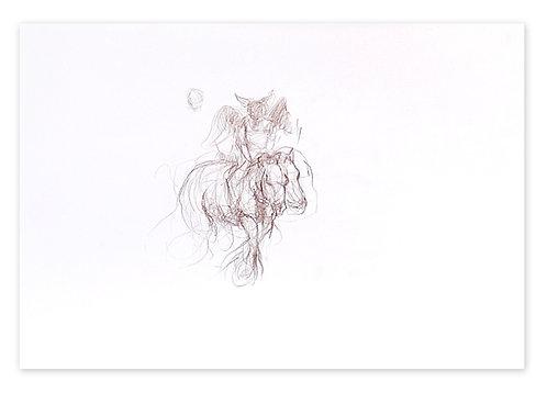 Zingaro, Ange à cheval 2 (29 x 42 cm)