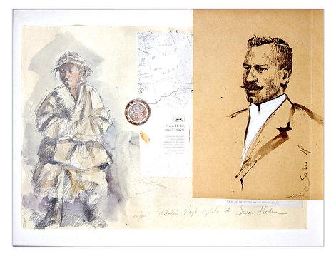 Mongolie, Sven Hedin (30 x 40 cm)
