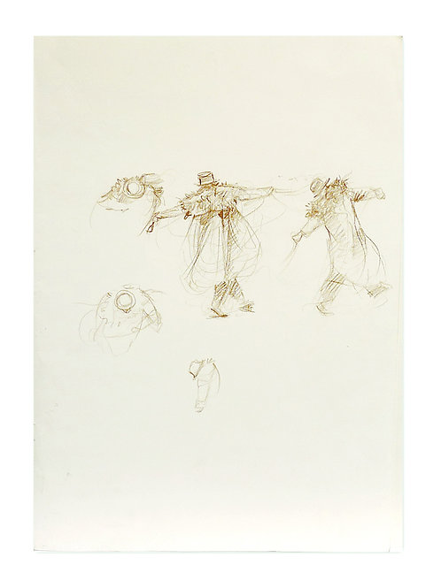 Zingaro, Bartabas dansant (42 x 30 cm)