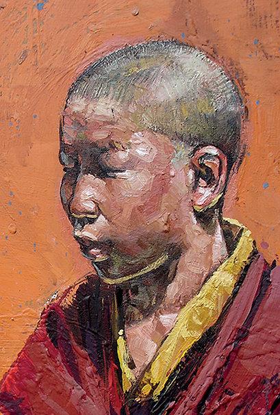 Mongolie, Jeune moine 10x15 cm