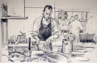 COMMANDE CHAMPAGNE COLLET, Série du chef cuisinier Doucet 1