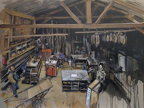 Zingaro, L'atelier (60 x 80 cm)