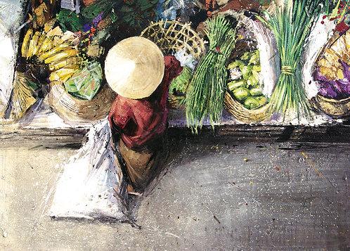 Indonésie, Le marché 10 x 15 cm
