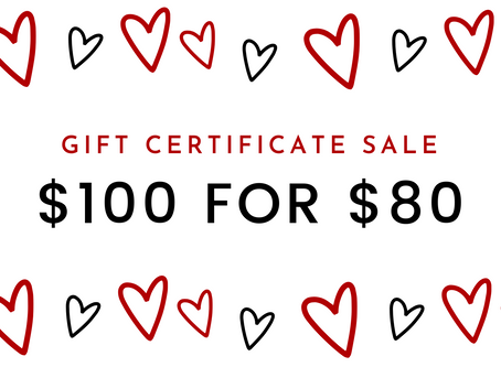 Valentine's Day Gift Certificate SALE