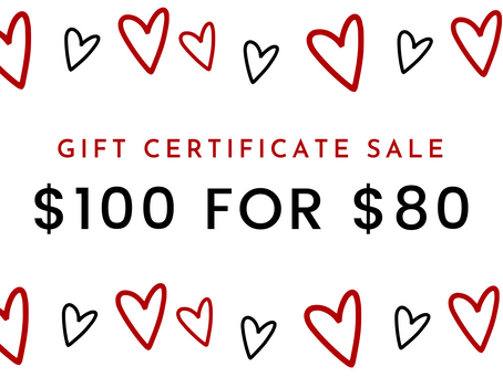 Valentine's Day Gift Certificate SALE