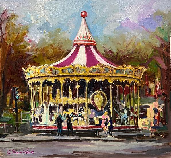 Carousel. Trocadéro Gardens. Paris.