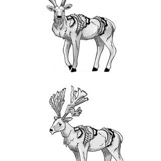 Coral Inspired Deer