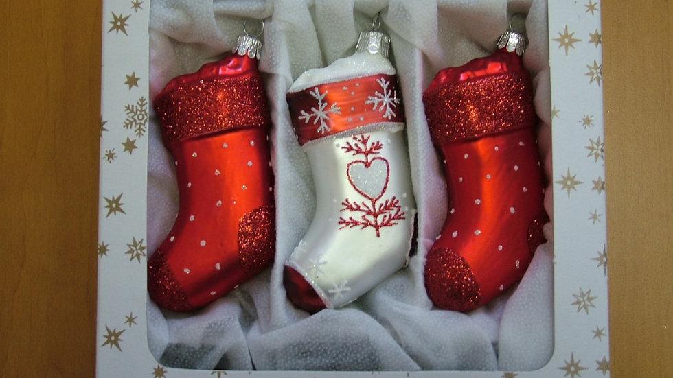 Decoratieve wintersokken(3 in een doos).