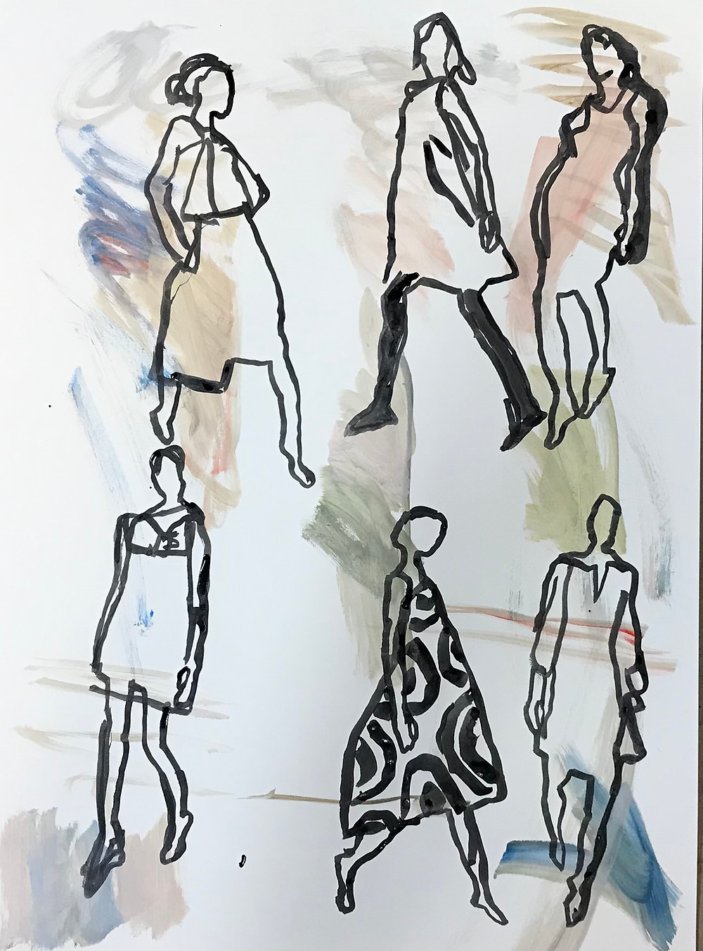Peggi Kroll Roberts, figure drawing - fashion figures