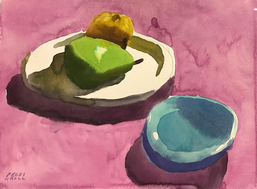 Peggi Kroll Roberts, watercolor still-life recently sold
