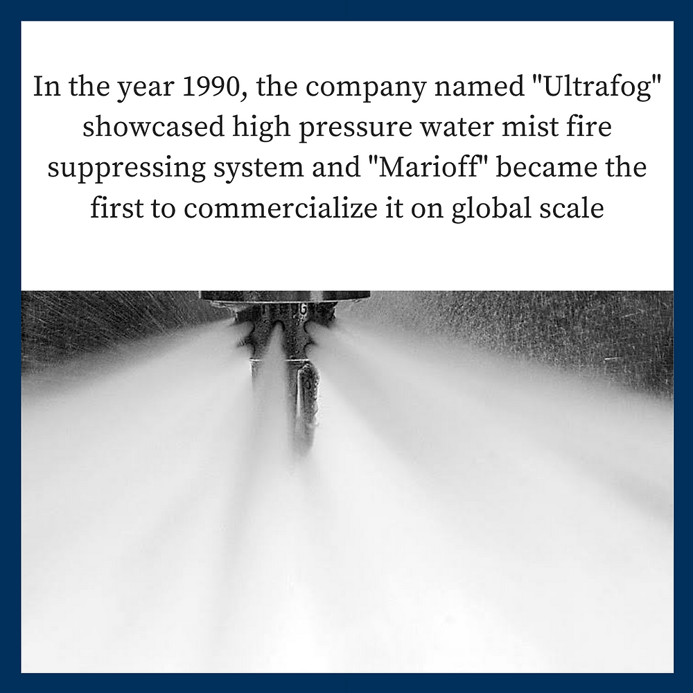 Did you know how water mist fire suppression system was started?