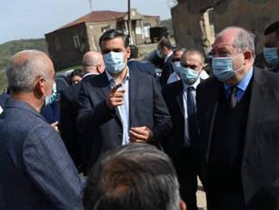 El Presidente y el Defensor del Pueblo de Armenia visitaron Siunik