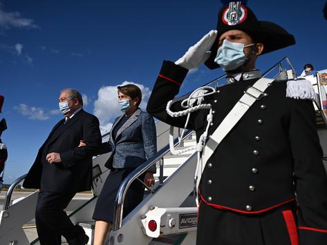 El presidente armenio Armén Sarkisian visitó Italia