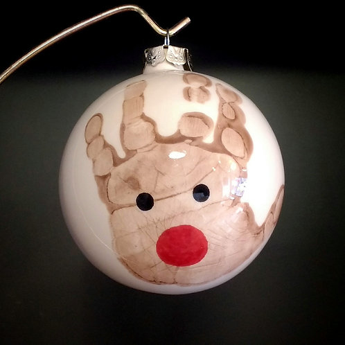 Christmas bauble - for reindeer prints, baubles