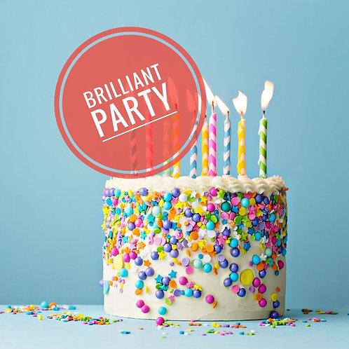Brilliant birthday party £16 per person