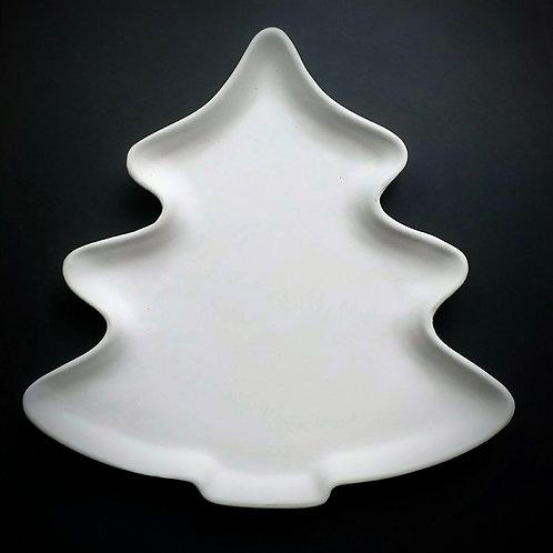 Christmas tree plate, big