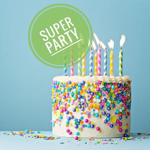 Super birthday party £15 per person