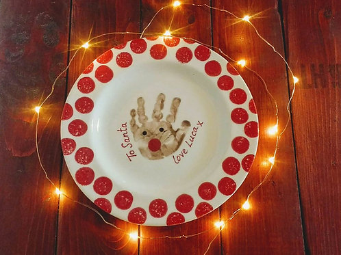 Plate for Santa kit, reindeer hand or footprint design